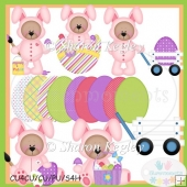 Easter Bear Bunny Pink 1 Clip Art