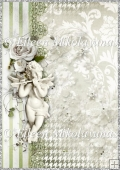 Heavenly Angel Christmas Backing Background Paper