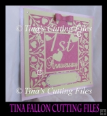 First 1st Wedding Anniversary Keepsake Vinyl or Card multi forma
