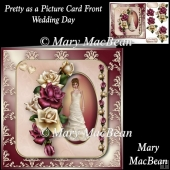 Pretty as a Picture Card Front - Wedding Day