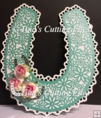 Bridal / Bride Wedding Horseshoe - Lattice and Daisies and box
