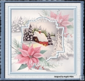House in the snow 7x7 card