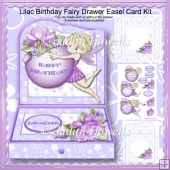 Lilac Birthday Fairy Drawer Easel Card Kit