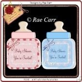 004 Baby Bottle Cards *HAND and MACHINE Formats*