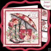 ROSES & RAINY DAYS 7.5 Decoupage & Insert Mini Kit