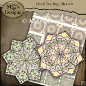 Floral Tea Bag Sheet #3