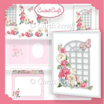 Roses window card set