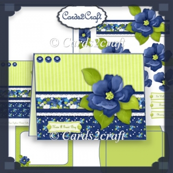 Nitwits Blue flower landscape card set