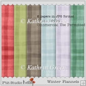 6 Warm and Cosy Flannel Style A4 Backing Papers