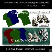 T-Shirts and Trainers Topper with Decoupage