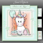 Birthday Unicorn 2 Mini Kit - With Age Badges 1 to 4 Years