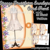 Orange Dressform Envelope Card Front