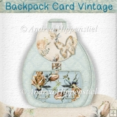 Vintage Flower Backpack Card