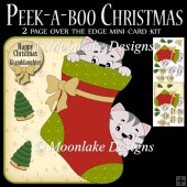 Peek-a-boo over the edge Mini Christmas Card Kit