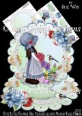 Cute Little Flower Girl Lydia Scalloped Round Easel Card Mini Ki