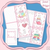 CUTE MICE A6 Notelets and Envelope Kit
