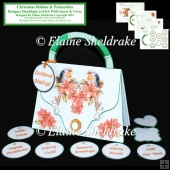Christmas Robins Designer Handbag Card Kit With Insert & Verse