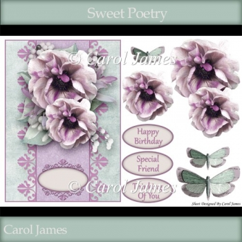 Card Front - Sweet Poetry