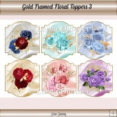 Gold Framed Floral Toppers 3