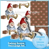 Fishing Gnome Decoupage Set