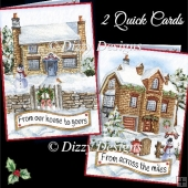 Christmas Houses - 2 Quick Cards