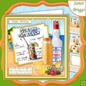 COCKTAILS SEX ON THE BEACH 7.5 Humorous Decoupage Mini Kit