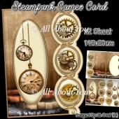 Steampunk Cameo Card