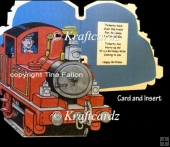 Tobias The Tank Engine Shaped Birthday card (JPEG)