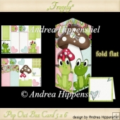 Pop Out Box Card Frogely