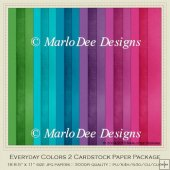 Everyday Colors 2 A4 size Cardstock Digital Papers Package