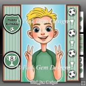 Football Boy Green With Ages 8 to 16 Yrs