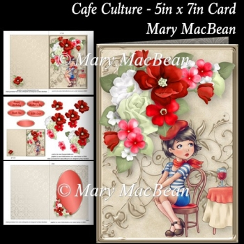 Cafe Culture - 5in x 7in Card