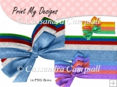 14 Damask Bows for CU & PU