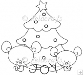 Christmas Mouse Design 2