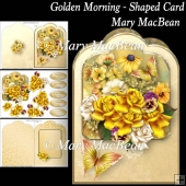Golden Morning - Shaped Card