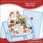 Deer Friends Christmas Shelf Card & Card Box