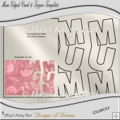 Mum Edged Card & Topper Template