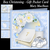 Boy Christening - Gift Pocket Card