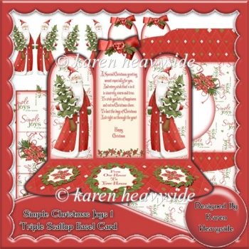 Simple Christmas Joys 1 Triple Scallop Easel Card