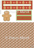Gingerbread Man Christmas Penny Slider Sheet