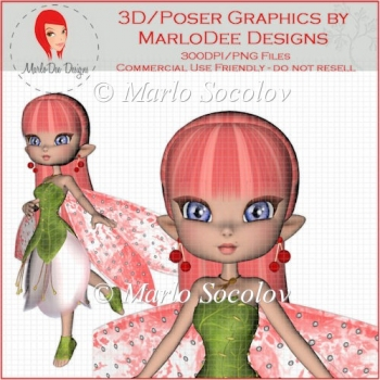Little Cherry Blossom Fairy by MarloDee Designs