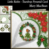 Little Robin - Teardrop Pyramid Card