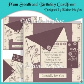Plum Seedhead Birthday Cardfront with Decoupage