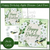 Happy Birthday Apple Blossom Card Front
