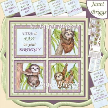 SLOTH SQUARES 7.5 Quick Layer Card & Insert Kit
