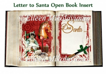Letter to Santa Open Book Card Insert