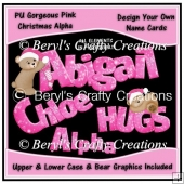 Alpha - Pink Snowlakes with Bear Graphics