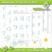 Daisy Chain Blue Alphabet & Numbers