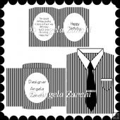 BLACK AND WHITE SHIRT CARD