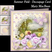 Summer Field - Decoupage Card